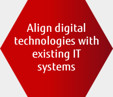 Align digital technologies with existing IT systems