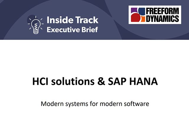 It's time to think again – SAP HANA on HCI