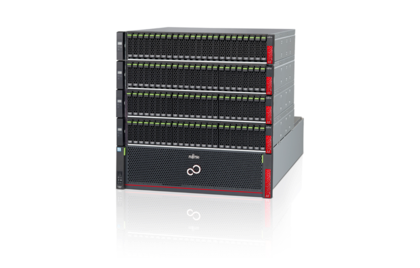 Fujitsu ETERNUS AF650 - All-Flash Array , CE + 4 DE, right side, with reflection