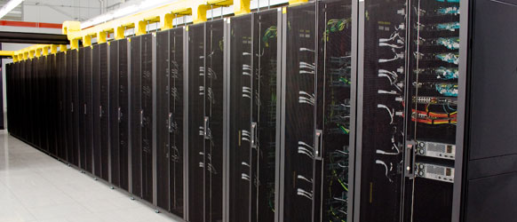 picture of racking in Fujitsu's London data center
