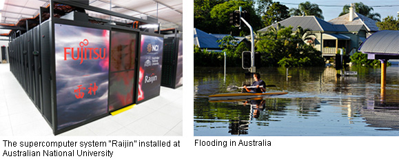 Flood Disaster Mitigation using Meteorological Simulations (Australia)