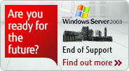End of support of Windows Server 2003