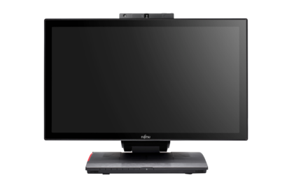 FUJITSU Desktop ESPRIMO X923-T, FUJITSU Thin Client FUTRO X923-T - multi-media module 2, front view, anti-glare touch-panel