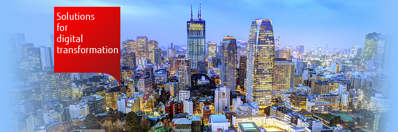 Fujitsu IT solutions: photo of the Tokyo sky line