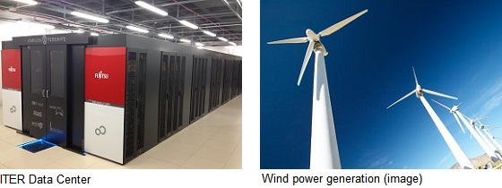 Picture: ITER Data Center and Wind power generation (image)