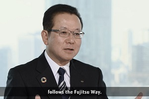 President Tanaka talking about the Fujitsu Way