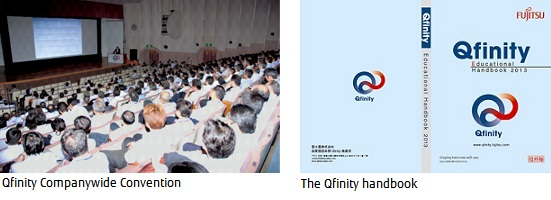 Picture: Qfinity Companywide Convention and The Qfinity handbook