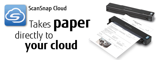 ScanSnap Cloud takes paper directly to your cloud