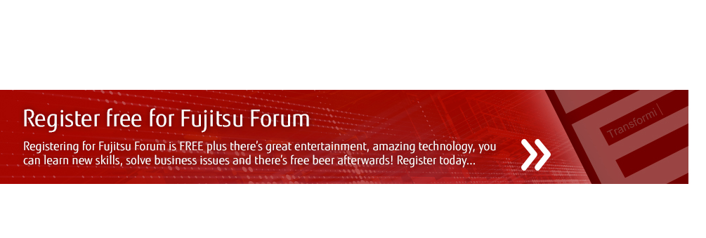 Register free for Fujitsu Forum