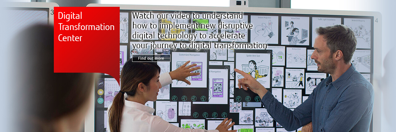 Digital Transformation Center Watch our video to understand how to implement new disruptive digital technology to accelerate your journey to digital transformation Find out more