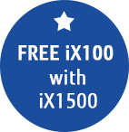Free iX100 when you buy a ScanSNap iX1500