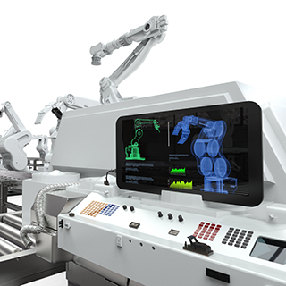 Illustration of a computer-controlled robotic arm