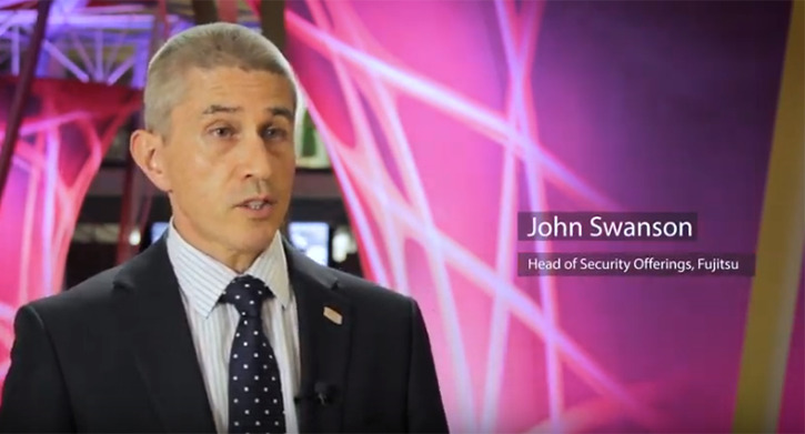 Video still: John Swanson talks about security in financial services