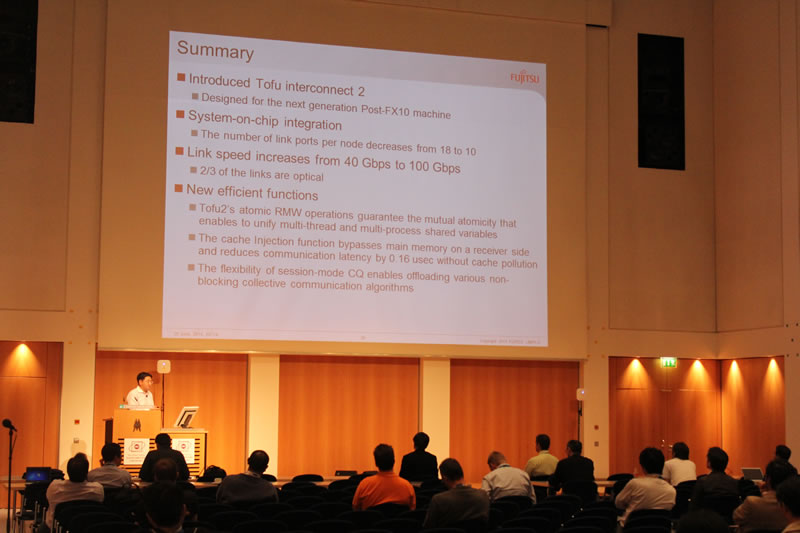Yuichiro Ajima at ISC Research Paper Session
