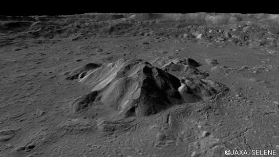 An image of the lunar surface capture by the terrain camera that Fujitsu contributed to the development of LISM