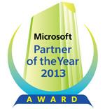 マイクロソフト パートナー オブ ザ イヤー 2013