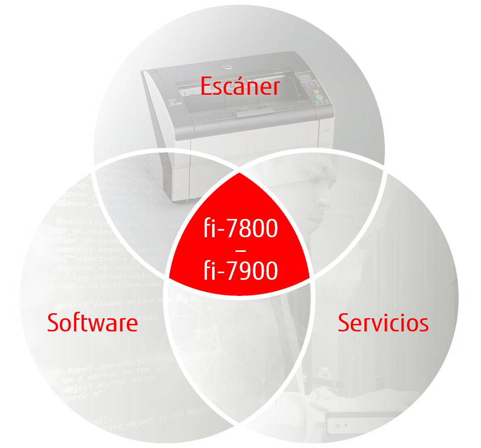 Scanner, Software, Services graphic