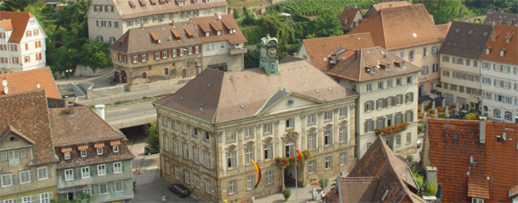 A view of buildings in the city of Esslingen