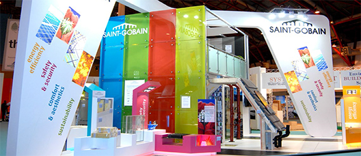 The Saint Gobain trade show stand