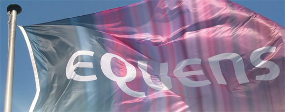 a flag that reads: equeens