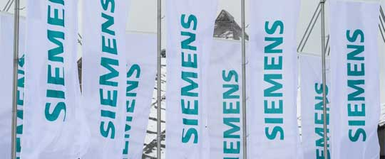 A collection of Siemens flags