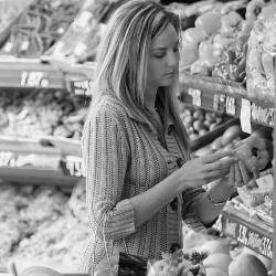 photo of woman shopping for food