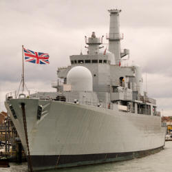 photograph of a royal navy ship
