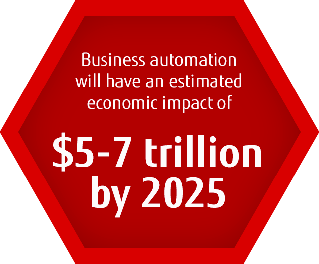 within 12 months, process automation can free up 30% of a workforce