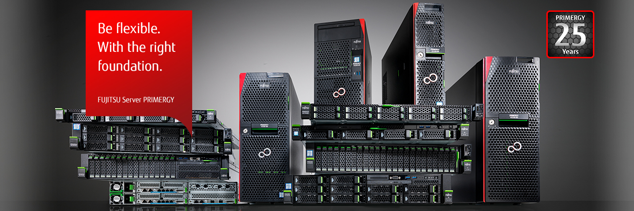 Fujitsu Server PRIMERGY: Be flexible. With the right foundation.