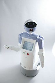 enon, Fujitsu's new service robot (Color shown: Lavender Blue)