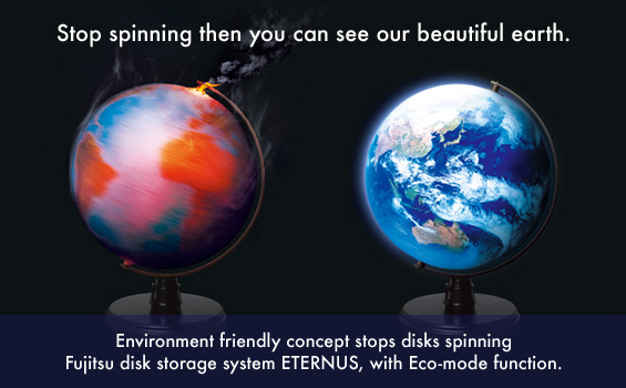 Stop spinning then you can see our beautiful earth. Environment friendly concept stops disks spinning