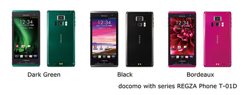 docomo with series REGZA Phone T-01D