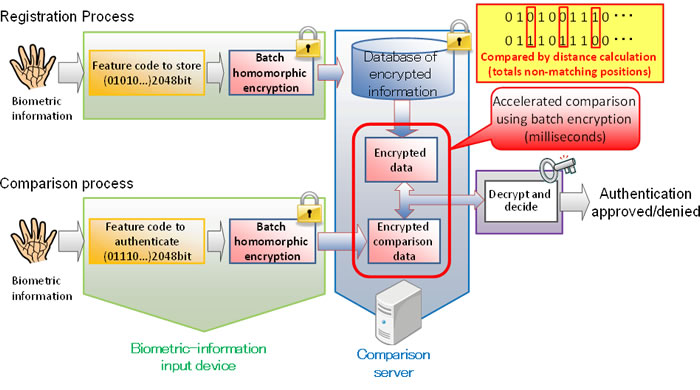 Figure 4: Biometric authentication workflow using this technology