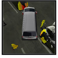Figure 7: Highlighted collision risk