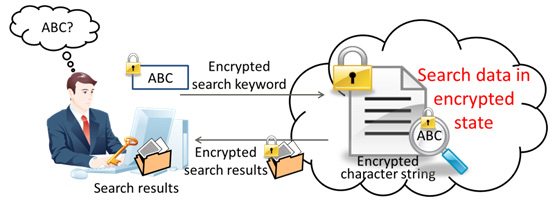 Figure 1. Private data search in the cloud