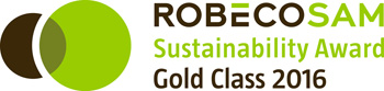 RobecoSAM Sustainability Award Gold Class 2016