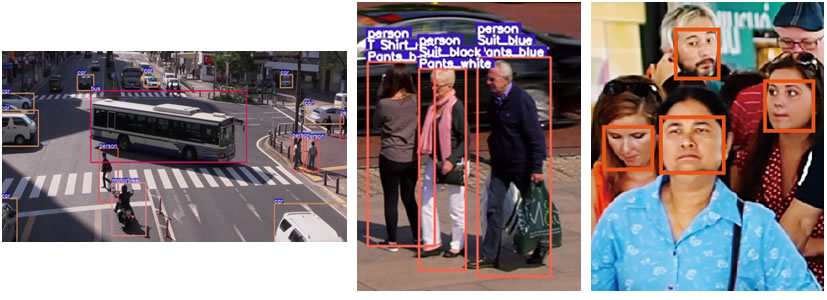Figure 1. Identification of vehicles, people, and faces
