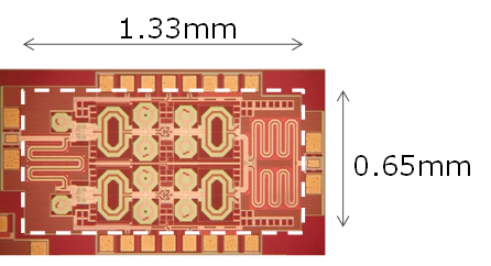 Figure 5: Picture of the newly developed phase shifter chip