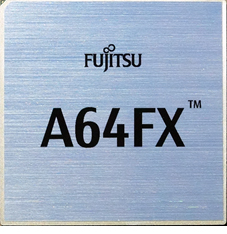 Photo of the A64FX package