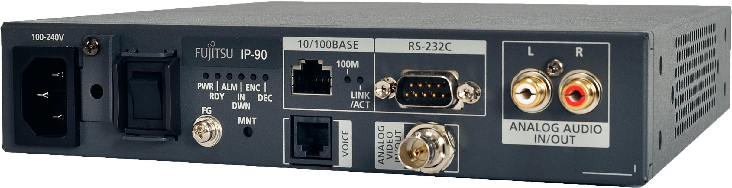 Ip 90 Compact Analog Sd Video Encoder Decoder Fujitsu Global Stereo Coder Multiplexer Larger View
