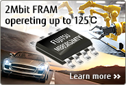 2Mbit FRAM operating up to 125℃