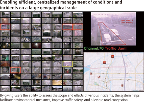 Enabling efficient, centralized management of conditions and incidents on a large geographical scale