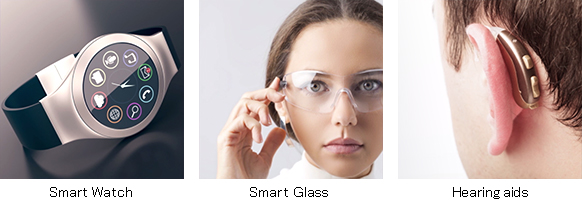 Smart Watch, Smart Glass, Hearing aids