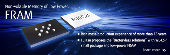Non-volatile Memory of Low Power, FRAM. Learn more...