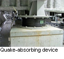 Quake-absorbing device