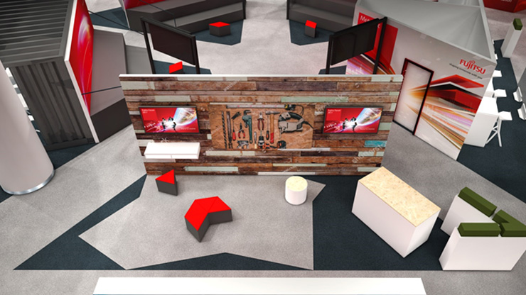 Render of the Co-creation Stations at Fujitsu Forum 2017
