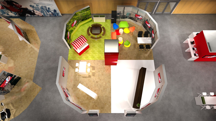 Render of the Digital Workplace area at Fujitsu Forum 2017