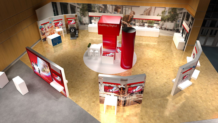 Render of the Enabling Digital area at Fujitsu Forum 2017