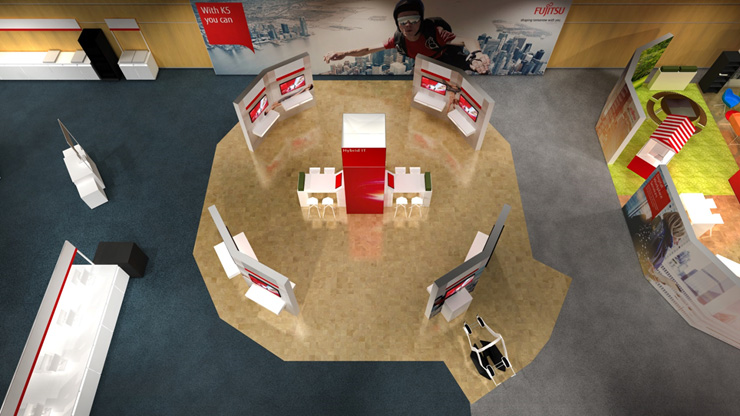 Render of the Hybrid IT area at Fujitsu Forum 2017