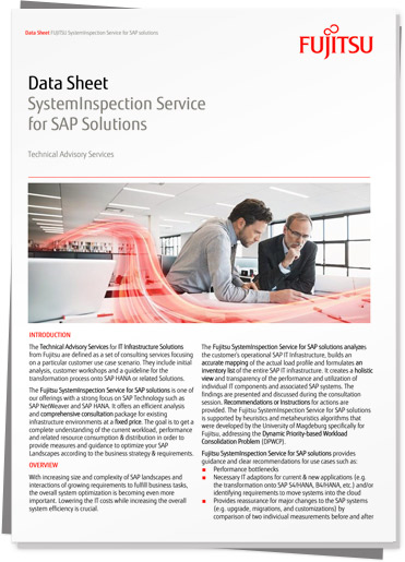 Download Data Sheet: Fujitsu SystemInspection Service for SAP solutions